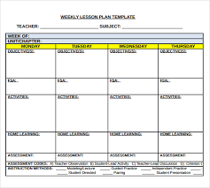 free lesson plan templates for middle 28 images middle