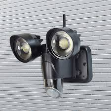 outdoor motion sensor light with camera ip56 water proof floodlight outdoor monitor 720p hd pir wireless ip