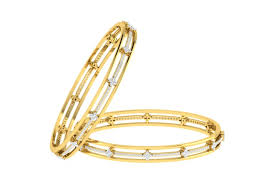 gold bracelet with diamonds images Buy tayte diamond bangles in gold endear jewellery jpg