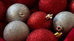 sparkly bauble and white baubles wallpaper