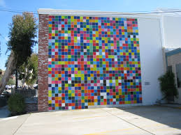la jolla s art on the walls views of la jolla the first mural painted on a brick building at 7596 eads ave titled what s your favorite color was created by seattle artist roy mcmakin s