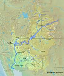 Map Of Colorado River by Colorado River