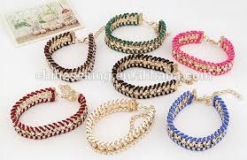 chain braided bracelet images Bohemian bracelet crystal bead ball chain gemstone chain nylon jpg