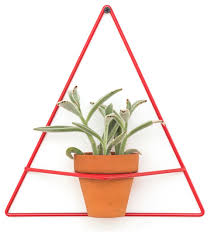 triangle wire wall planter contemporary indoor pots and