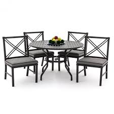 Aluminum Outdoor Chairs Audubon 5 Piece Aluminum Patio Dining Set With Side Chairs And