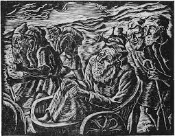 modern haggadah finds passover woodcut by jacob steinhardt the bohmerian