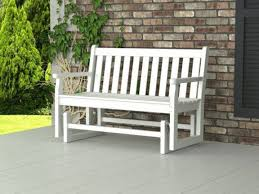 garden outdoor glider bench rberrylaw warm and inviting