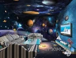 galaxy wall mural 3d universe galaxy planets sky entire living room wallpaper wall
