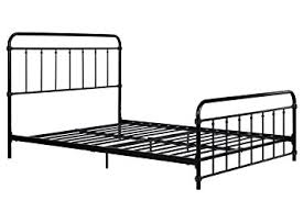Metal Frame Headboards by Amazon Com Wallace Metal Bed Frame In Black With Vintage