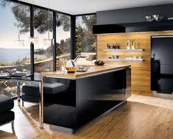 custom kitchen design appliances glossy black kitchen island with lacquered black