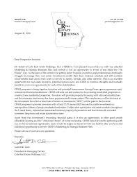investment opportunity letter