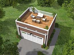 garages with apartments on top plan 68436vr garage with roof top deck garage plans roof top