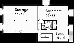 Home Plans With Basement Floor Plans Ranch House Plan 3 Car Garage Basement Storage