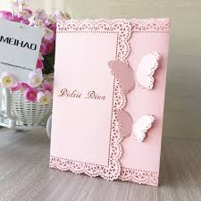 vintage wedding invitations 50pcs vintage wedding invitation cards unique butterfly open lace