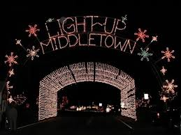 santa land here lighted sign light up middletown oh ohio find it here