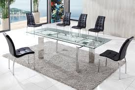 Contemporary Glass Dining Room Sets Modern Dining Table Design And Features Thementra Com