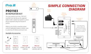 pro2 pro1183 ir repeater kit radio parts electronics u0026 components