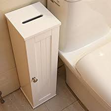 White Bathroom Storage Cabinet Amazon Com Asense 25 Inches High White Bathroom Storage Cabinet