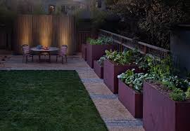 planter box designs modern landscape contemporary with gravel