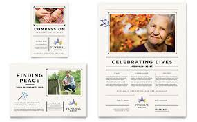 Memorial Pamphlets Samples Funeral Services Brochure Template Design