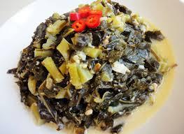 korean style collard greens side dishes recipe maangchi com