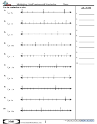 printable numbers lines printable number line worksheets with fractions worksheets for all