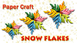 learn how to make snowflakes diy snow flakes paper craft for
