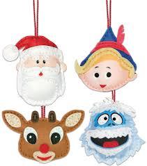 rudolph the nosed reindeer ornaments felt applique kit set of