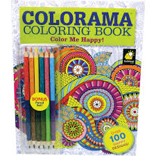 as seen on tv colorama color me happy coloring book with over 100