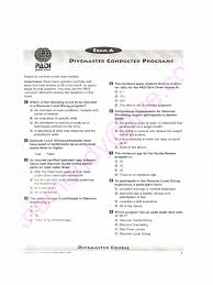 divemaster final exam questions