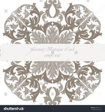 vintage invitation card luxurious baroque ornament stock vector