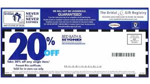 bed bath and beyond online coupon 2016
