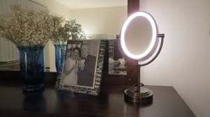 lighted makeup mirror reviews conair double sided lighted makeup mirror review face beauty plus