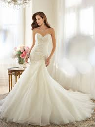 wedding dress 2015 organza a line wedding dress with dropped waist