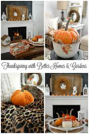 walmart home decorations thanksgiving in our home with better homes and gardens