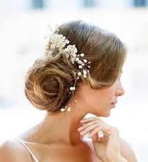 vintage bridal hair dazzling wedding hair gold vine hair