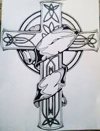 celtic cross with banner tattoo pictures to pin on pinterest