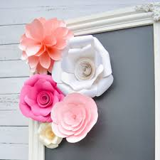 decorative crepe paper flowers pink paper rose and flower