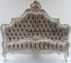 Princess Style Bedroom Furniture by Silver Mercury Crushed Velvet And Crystal Buttons Princess Bed
