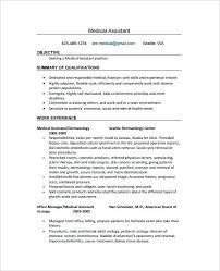 Receptionist Resume Templates Medical Resume Sample Generic Medical Assistant Resume Sample