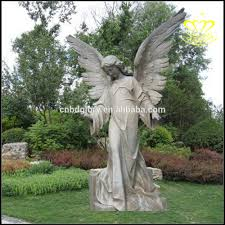 Angel Sculptures White Marble Stone Three Beautiful God Sculptures European Style