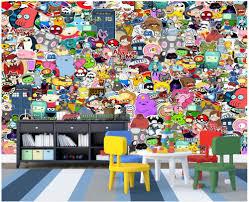 online get cheap graffiti wallpaper mural kids aliexpress com custom 3d photo wallpaper 3d wall murals wallpaper cartoon animal graffiti wall children room background wall