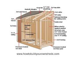 woodworking plan how to build a lean to shed plans free