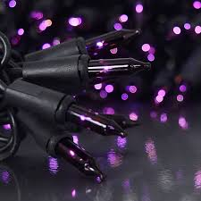 100 count mini lights 100 count purple miniature light set black wire