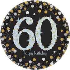 celebrating 60 years birthday 8 gold celebration age 60 paper plates silver gold black 60th