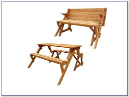 Picnic Table Bench Combo Plan Folding Picnic Table Bench Seat Combination Bench Home