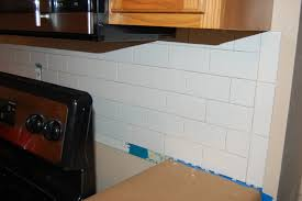 Subway Tiles For Backsplash In Kitchen Subway Tile Backsplash Diy Project Aholic