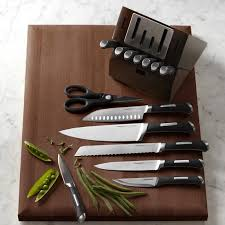 calphalon precision self sharpening 15 piece cutlery set with
