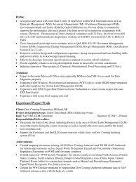 Sap Abap Workflow Resume Sap Eh U0026s Wwi Resume Specification Technical Standard