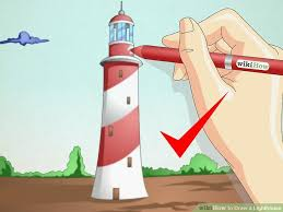 how to draw a lighthouse 7 steps with pictures wikihow